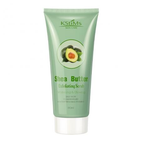Shea Butter Exfoliating Scrub for Facial & Body Whitening Glowing
